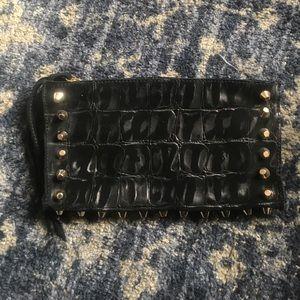 Linea pelle black clutch